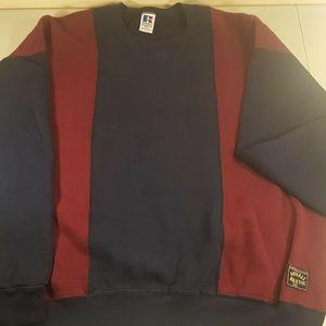Vintage Navy Blue Maroon Sweatshirt 2XL